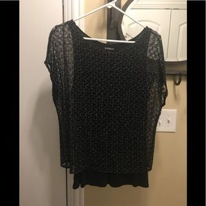 Express black tunic